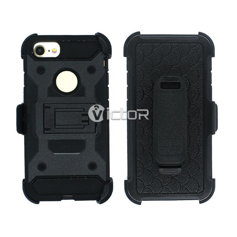 Victor VI-CASO-026 TPU + PC Guerrero funda soporte funda para el iPhone 7