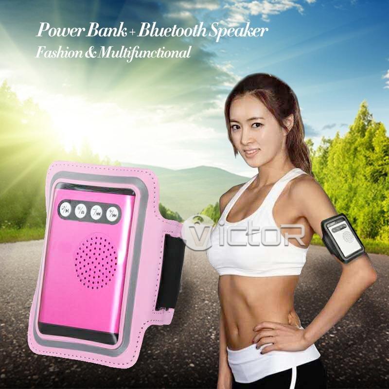 Victor 2 en 1 Multi funcional Banco de potencia Bluetooth altavoz