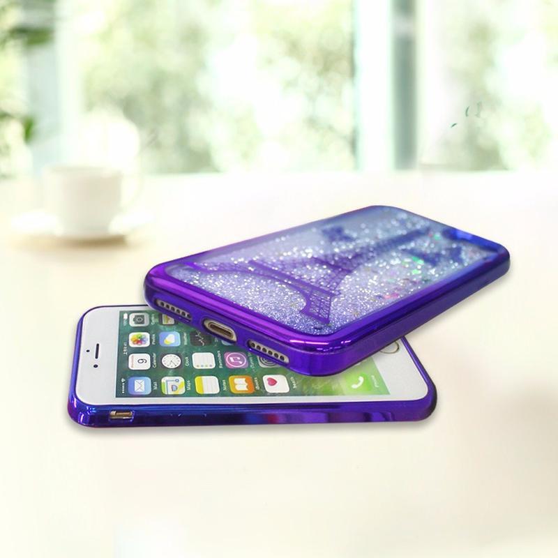 Victor dos colores galvanizado por mayor iPhone 7 caso de arenas movedizas