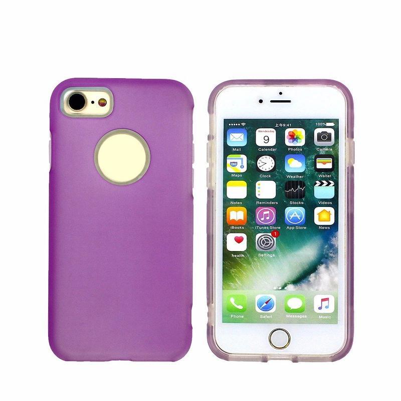 Medio claro PC + TPU Combo caja del teléfono para el iPhone 6