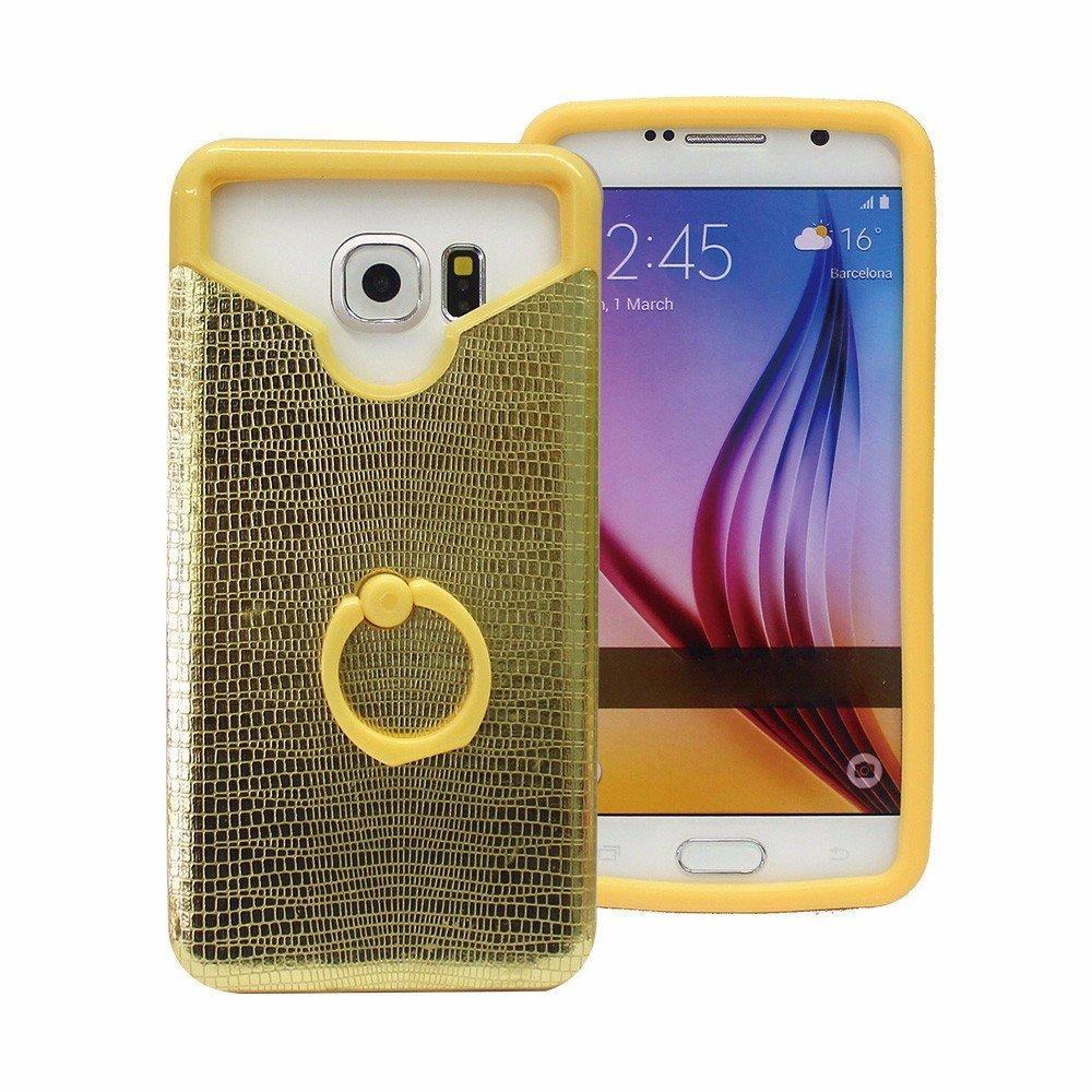 Shinny cuero trasero caso de silicona para Smartphones