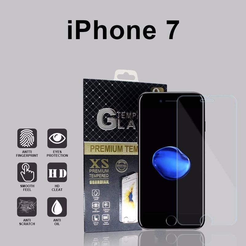 Totalmente transparente iPhone 7 protector de pantalla de cristal