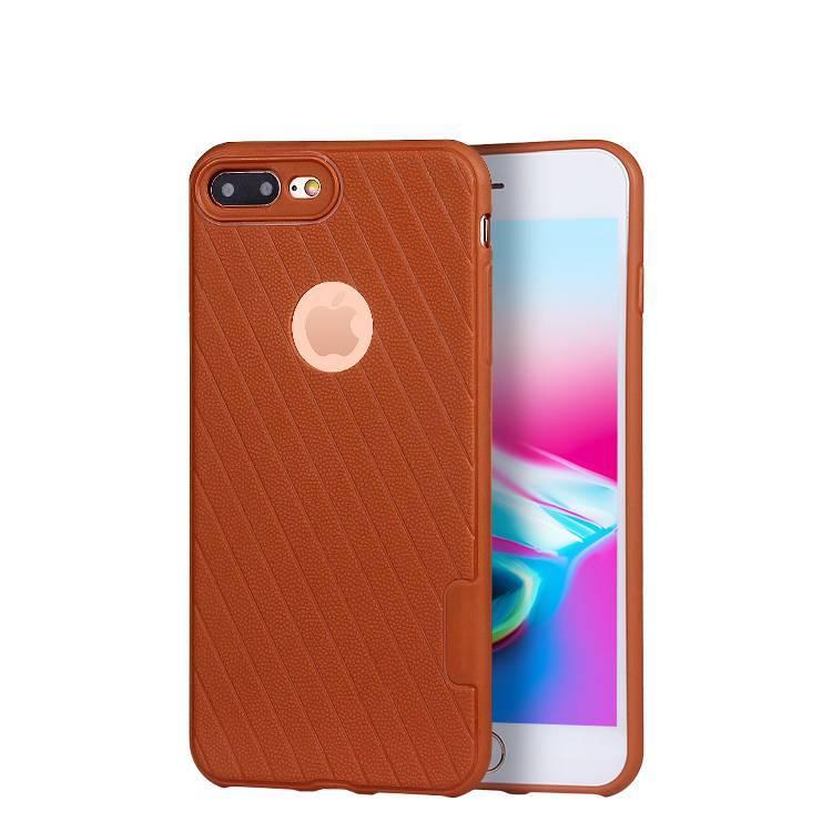 Funda de TPU con diseño de cuero granulado para iPhone 8 plus