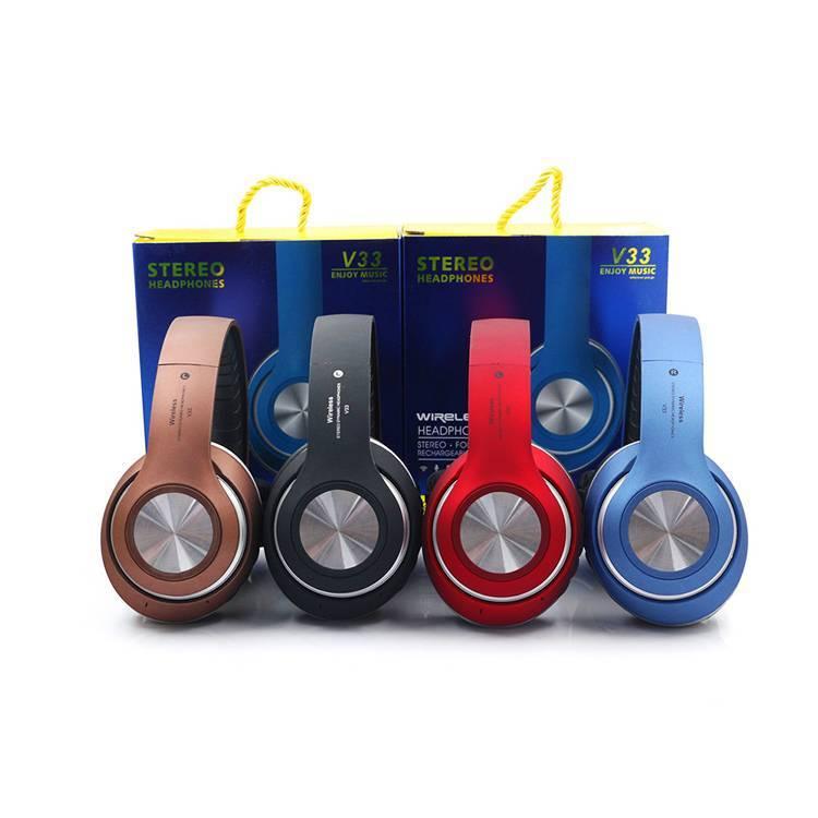 Auriculares de auriculares grandes de auriculares inalámbricos deportivos únicos para Android e ISO