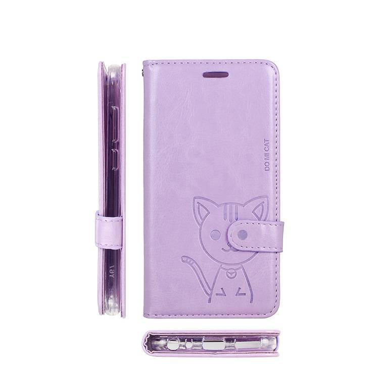 Domi Cat Wallet Leather Flip Phone Case for Huawei P30