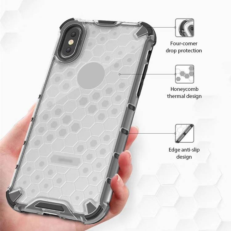 Ultra Thin Honeycomb Shockproof Cover Case for iPhone X XS