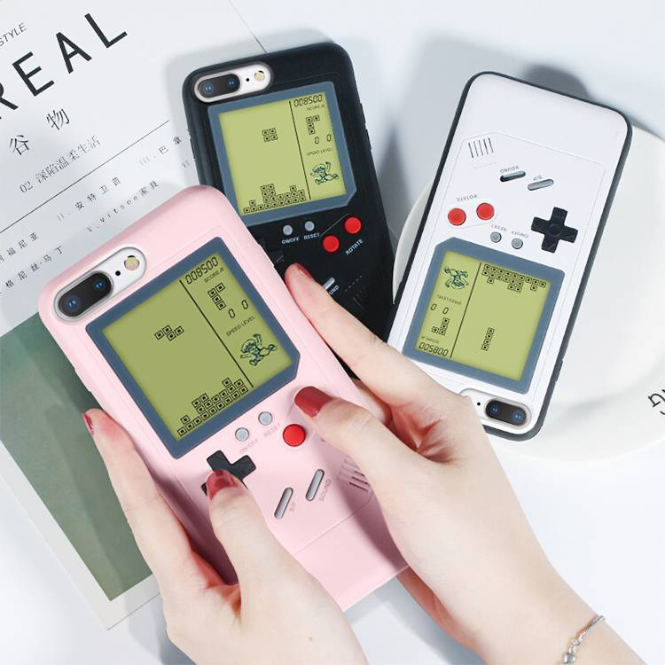 Creative Gameboy Cell Phone Case Playable Case with Built-in Tank War Tetris Game