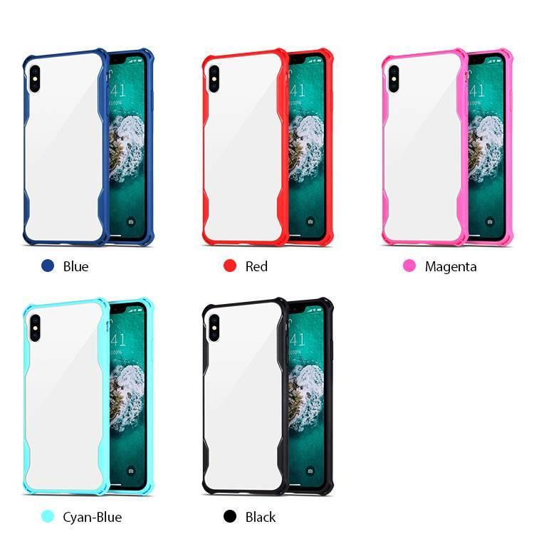 Caja del teléfono TPU de acrílico para iPhone XS MAX