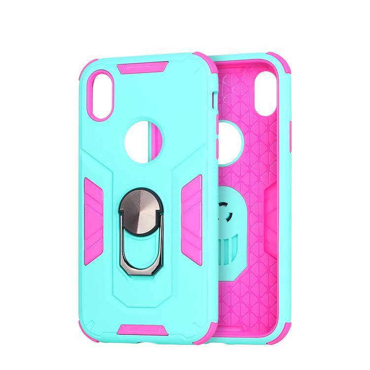 2019 New Arrivals Shockproof 3 IN 1 Phone Case for iPhone XR With Kickstand Ring Holder