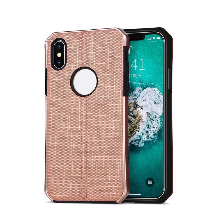 Fabric Cloth Pattern Design Phone Case for iPhone XS MAX With Logo hole