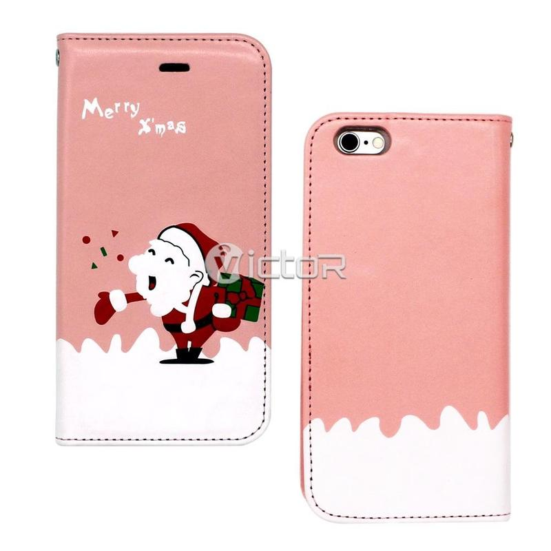 Victor Christmas Magnetic Apple iPhone 6s PU Leather Case