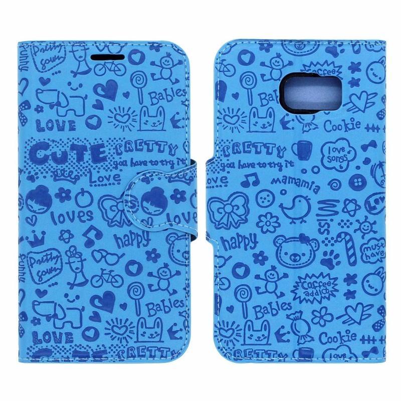 Victor PU Leather Purse Design Samsung Galaxy S6 Cases
