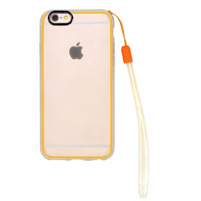 Victor útil claro iPhone 6 caso con elemento de amarre