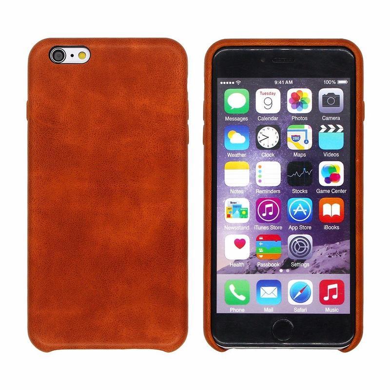 Real Leather Feeling iPhone 6 Plus Funda de Cuero PU