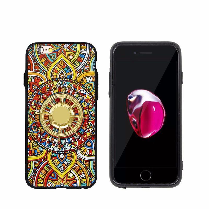 TPU Caso de lujo del iPhone del tope de TPU con el hilandero del timón