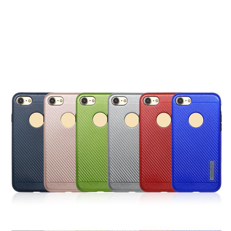 Caja de teléfono fresco de fibra de carbono combo para el iPhone 7
