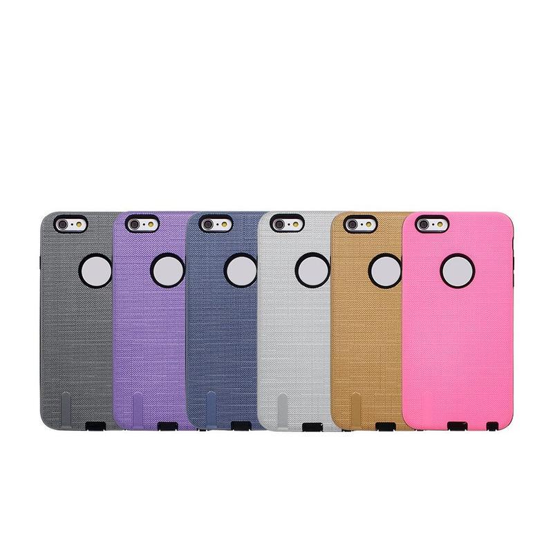 Patrón de tela 2in1 caso protector para el iPhone 6 Plus