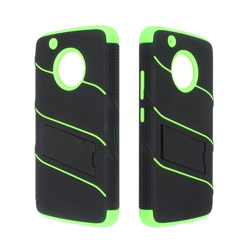 Protective Moto G5 Plus Armor Case with Rotating Belt Clip