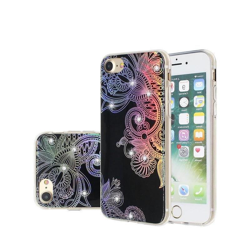 Diamond Decor Blue Light IMD Phone Case for iPhone 7