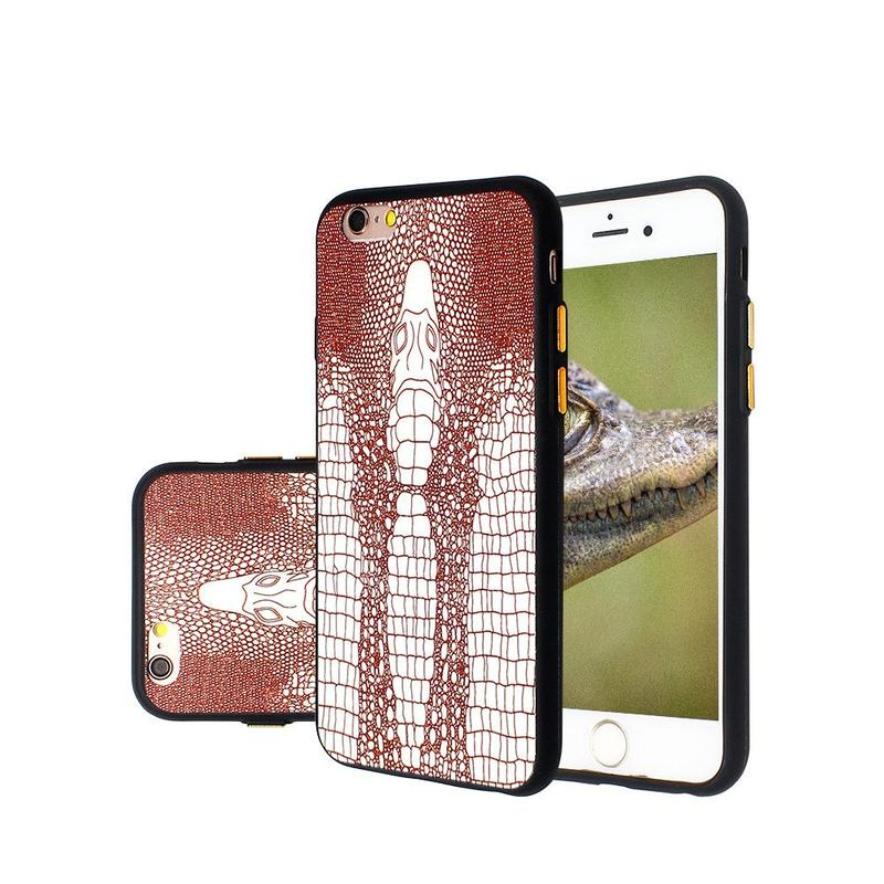 Embossed Crocodile Pattern Slim iPhone 6 TPU Case