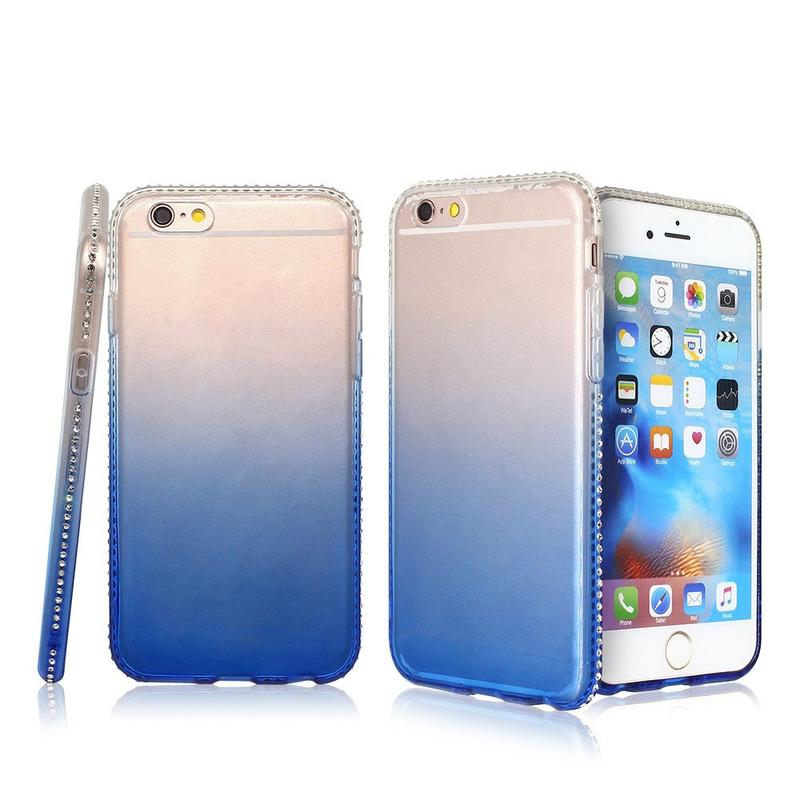 Gradient Color iPhone 6 Case with Diamond Bumper