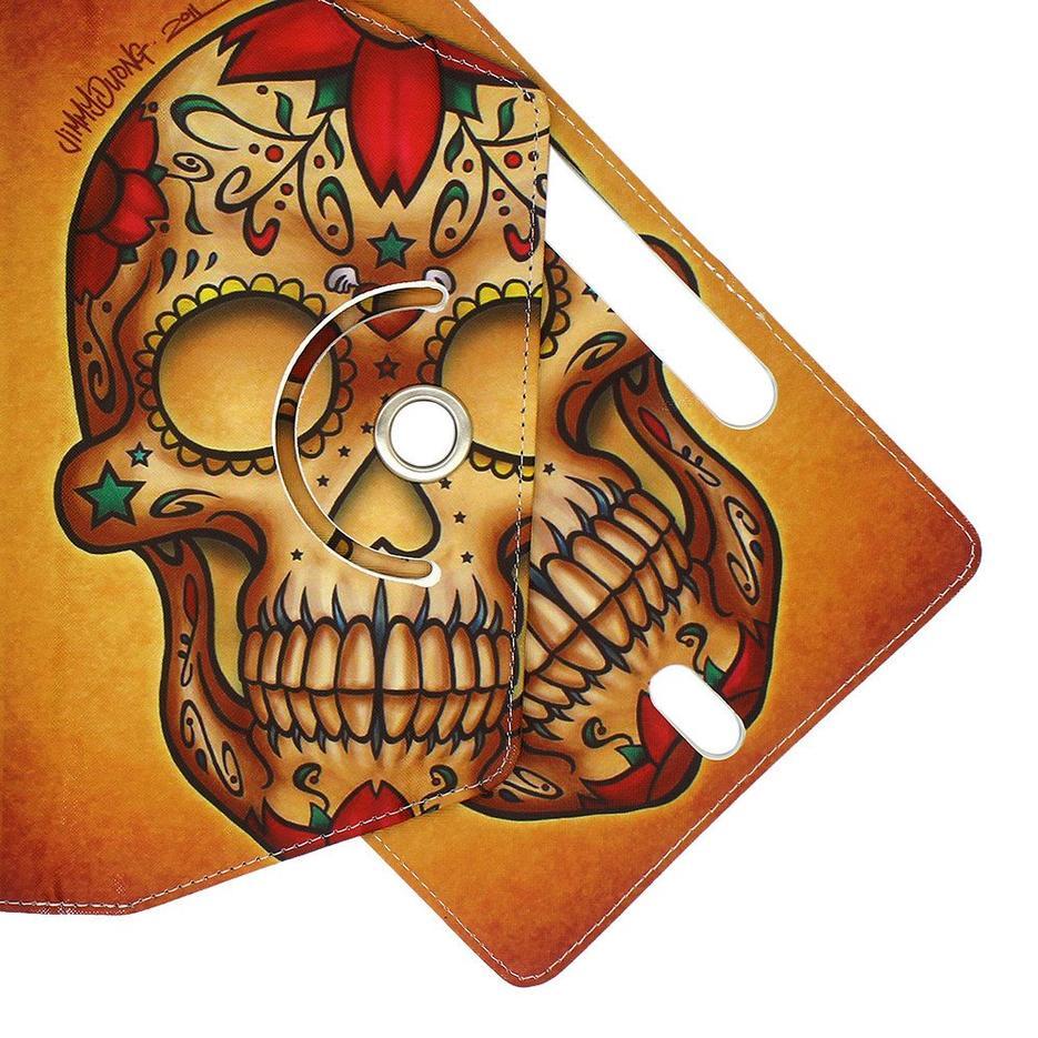 Caja giratoria de tableta de cuero de 10 pulgadas