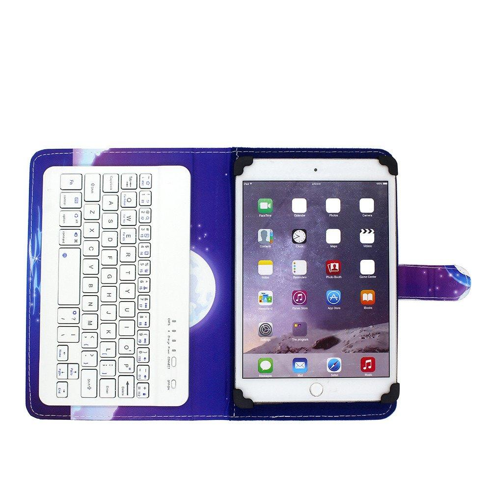 Universal Leather Tablet Case with Bluetooth Keyboard