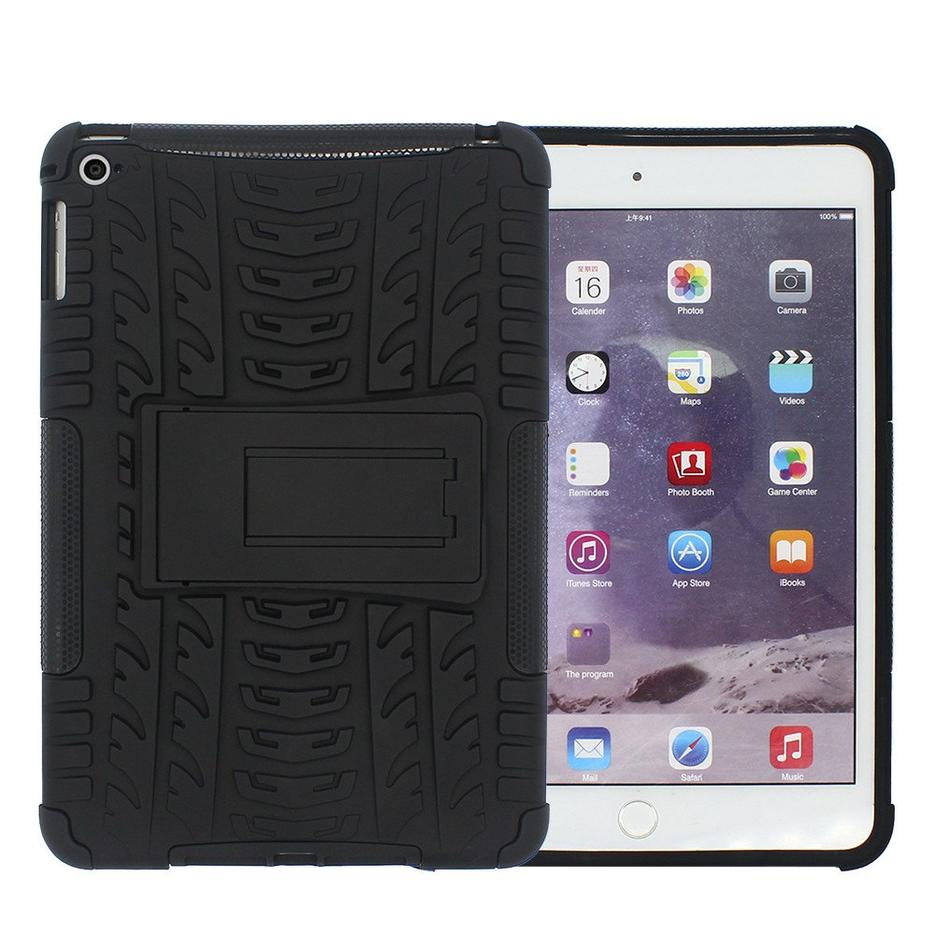 Protective Drop Proof Silicone iPad Mini 4 Tablet Case with Stand
