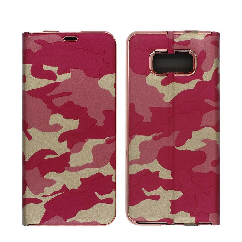 Camuflage Color Slim Wallet Funda de piel para Samsung S8 Plus