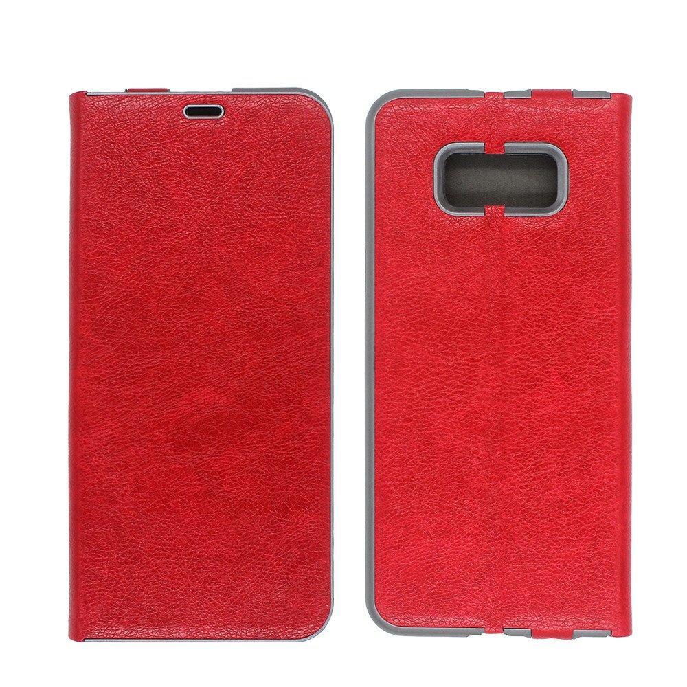 Cartera de piel de cuero para Samsung S8 Plus con soporte de tarjeta