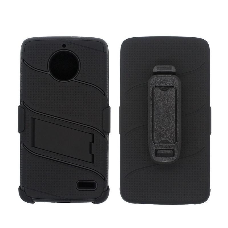 Moto E4 Case for Wholesale - Three in One Design Case for Motorola