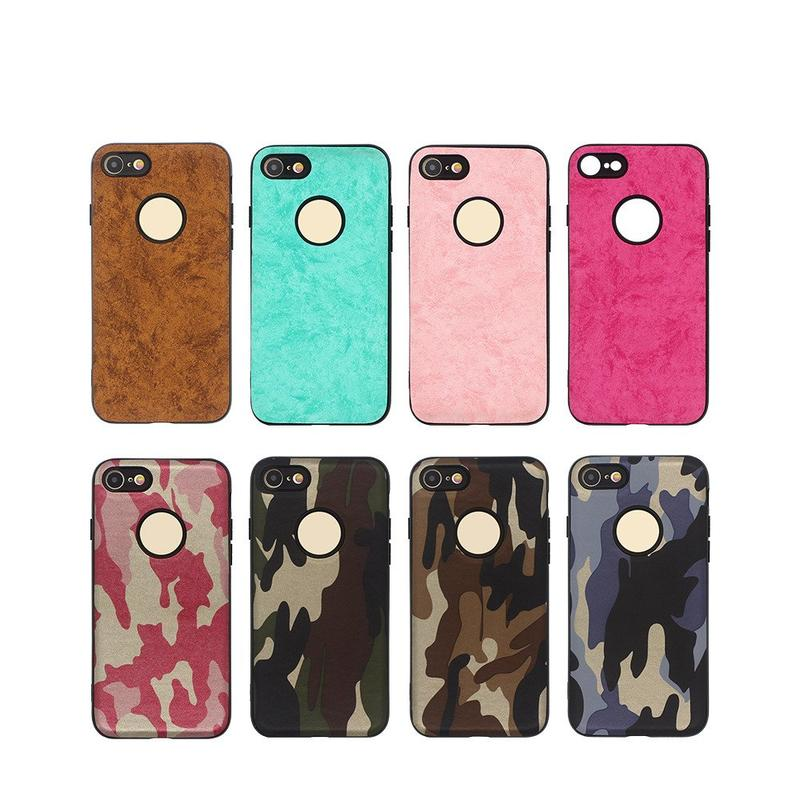 iPhone 7 Protective Case Pasted with PU Giving 360 Degree Care