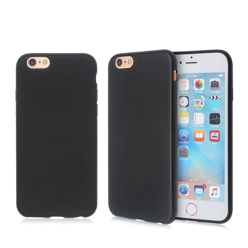 TPU Phone Case for iPhone 6 with Cool Carbon Fiber Grooves