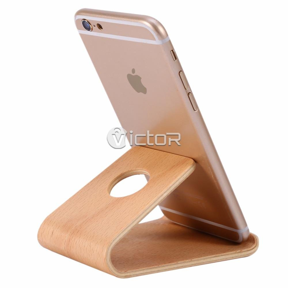 phone stands - smartphone accessories - wood smartphone stand- 1