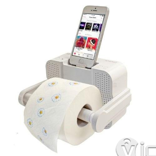 toilet paper holder bluetooth speaker - cell phone accessories - bluetooth speakers - 1