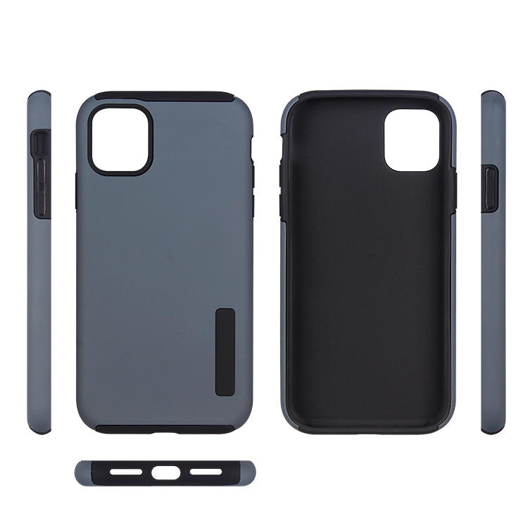 2 in 1 Phone Case for iPhone 11 TPU PC Hybrid back cover