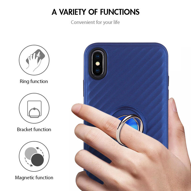 Venta al por mayor Car Mount Magnetic Ring Phone Case para iPhone X XS