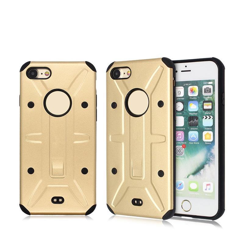 Caso Combo para el iPhone 7 consistió en piezas de PC y TPU para la venta al por mayor