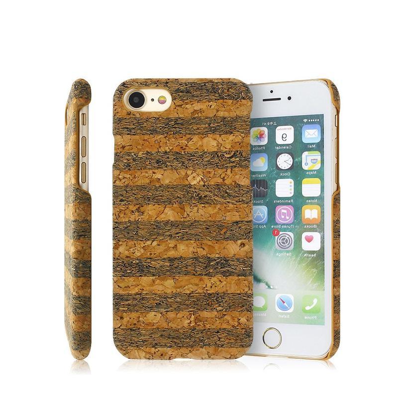 Real de madera patrón de la caja del teléfono de la PC para el iPhone 7