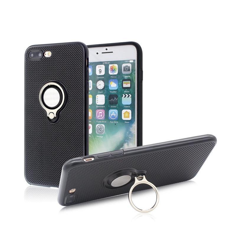 Caso de teléfono de protección total para el iPhone 7 más con anillo