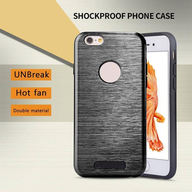 IPhone de dibujo de alambre 6 caja de teléfono Combo Shockproof