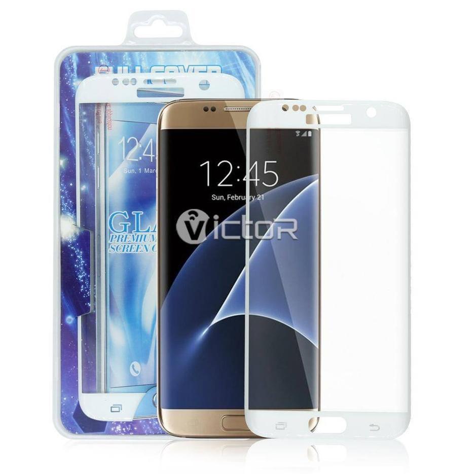 Victor Galaxy S7 borde de cristal templado protector de pantalla