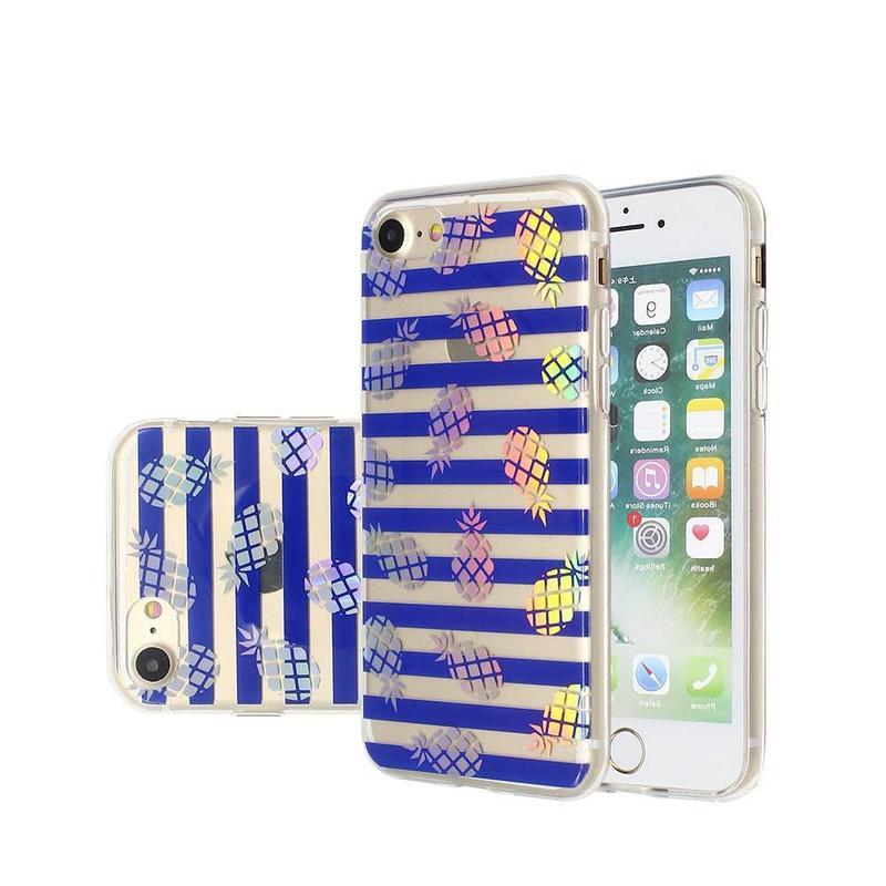 Simple bastante azul luz TPU teléfono caso para el iPhone 7