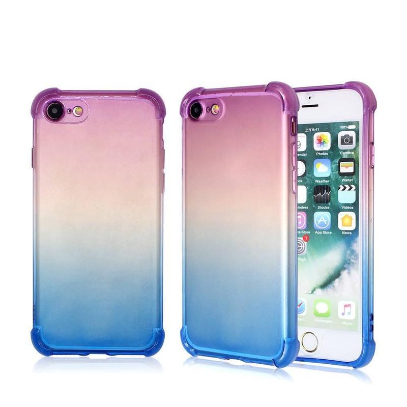 Drop Proof gradiente de color TPU teléfono caso para el iPhone 7