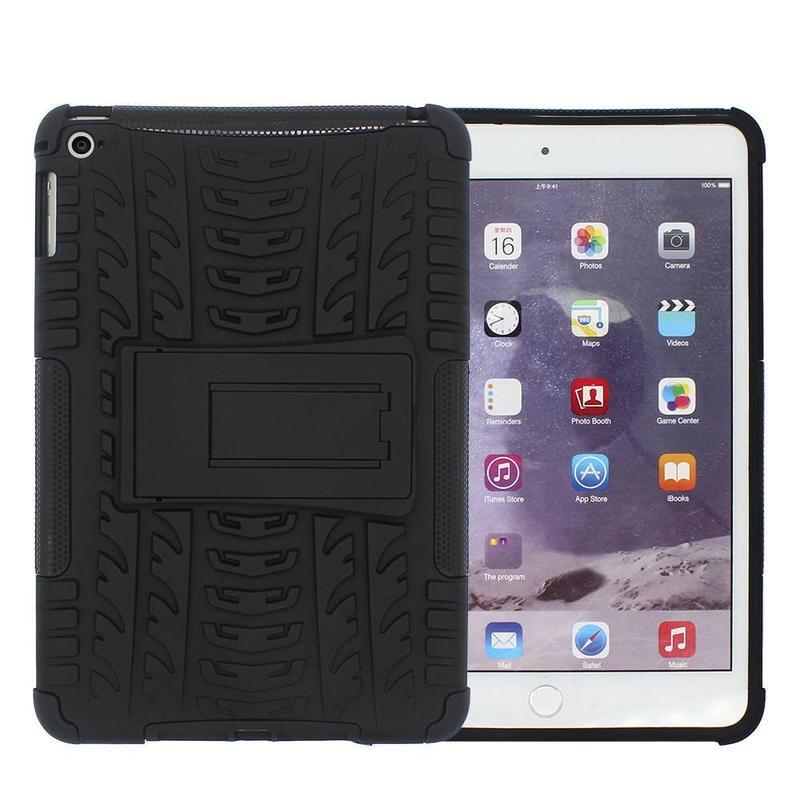 Caja protectora de la tableta del iPad Mini del silicón de la prueba de la gota 4 con el soporte