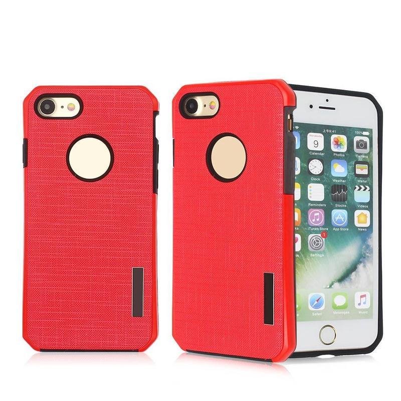 Patrón de tela delgada cintura dos en un caso de teléfono para el iPhone 7
