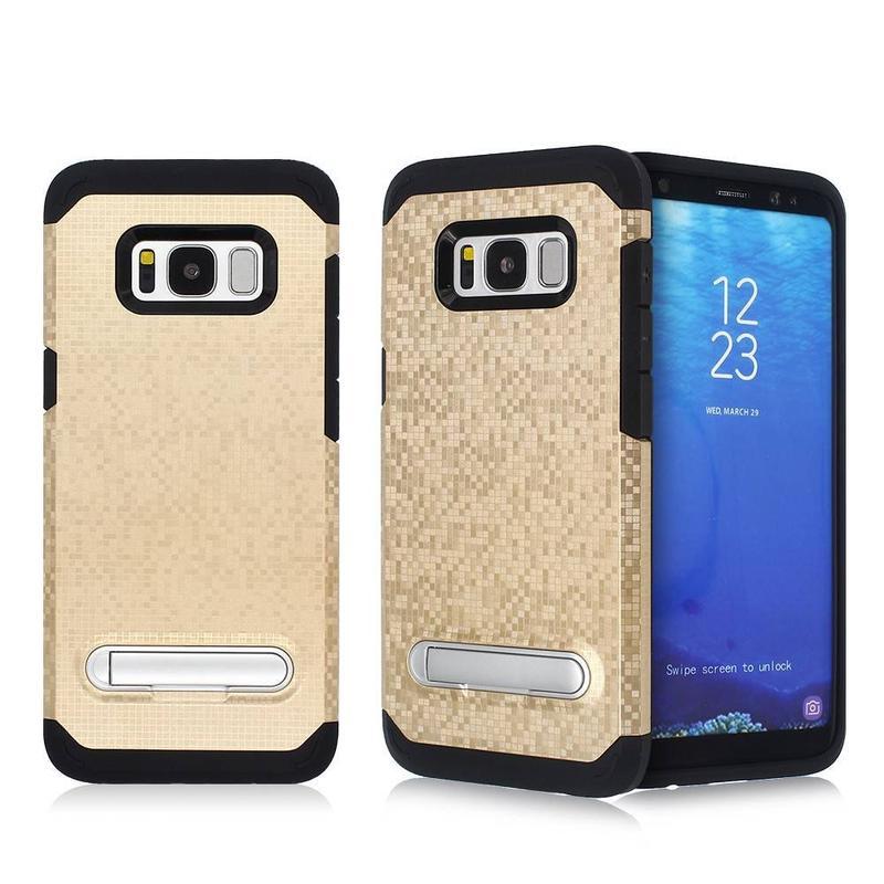 Mosaico patrón Samsung S8 Combo caso con Kickstand para la venta al por mayor