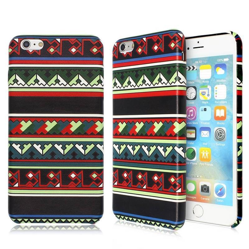 Embossed ultra delgado caso de cuero del teléfono para el iPhone 6 Plus