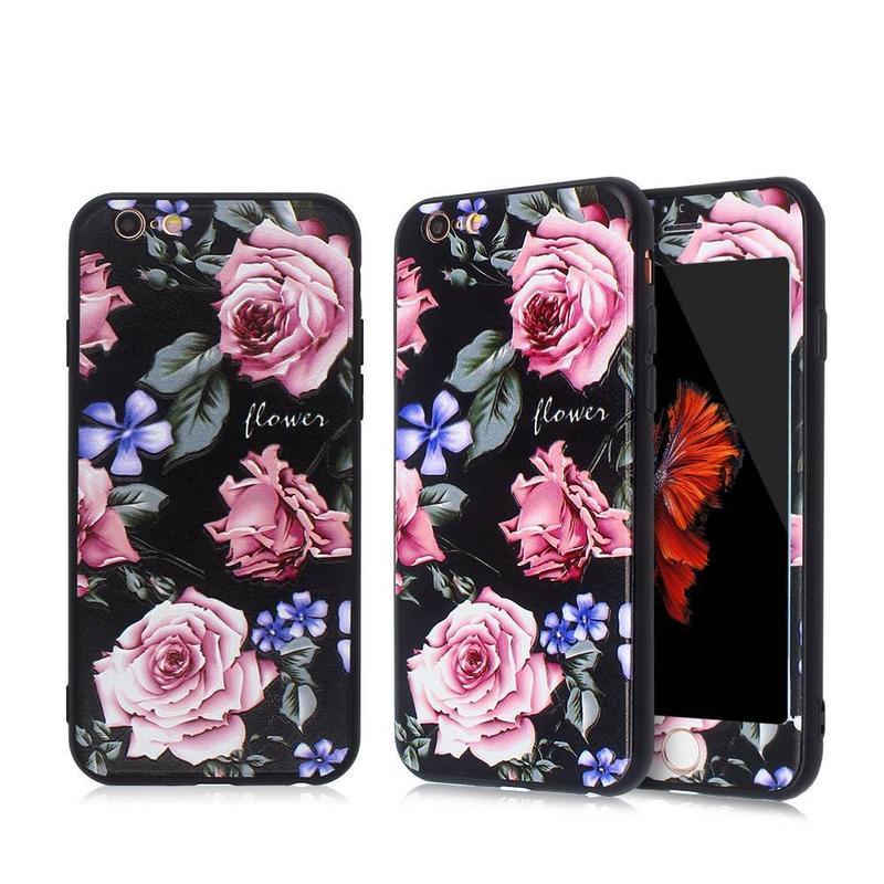 Hermoso bonito iPhone de Apple 6 caso y protector de pantalla de cristal