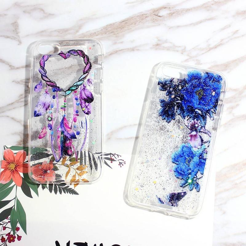 Clear Phone Case for iPhone 7 with Pretty Artwork Patterns
